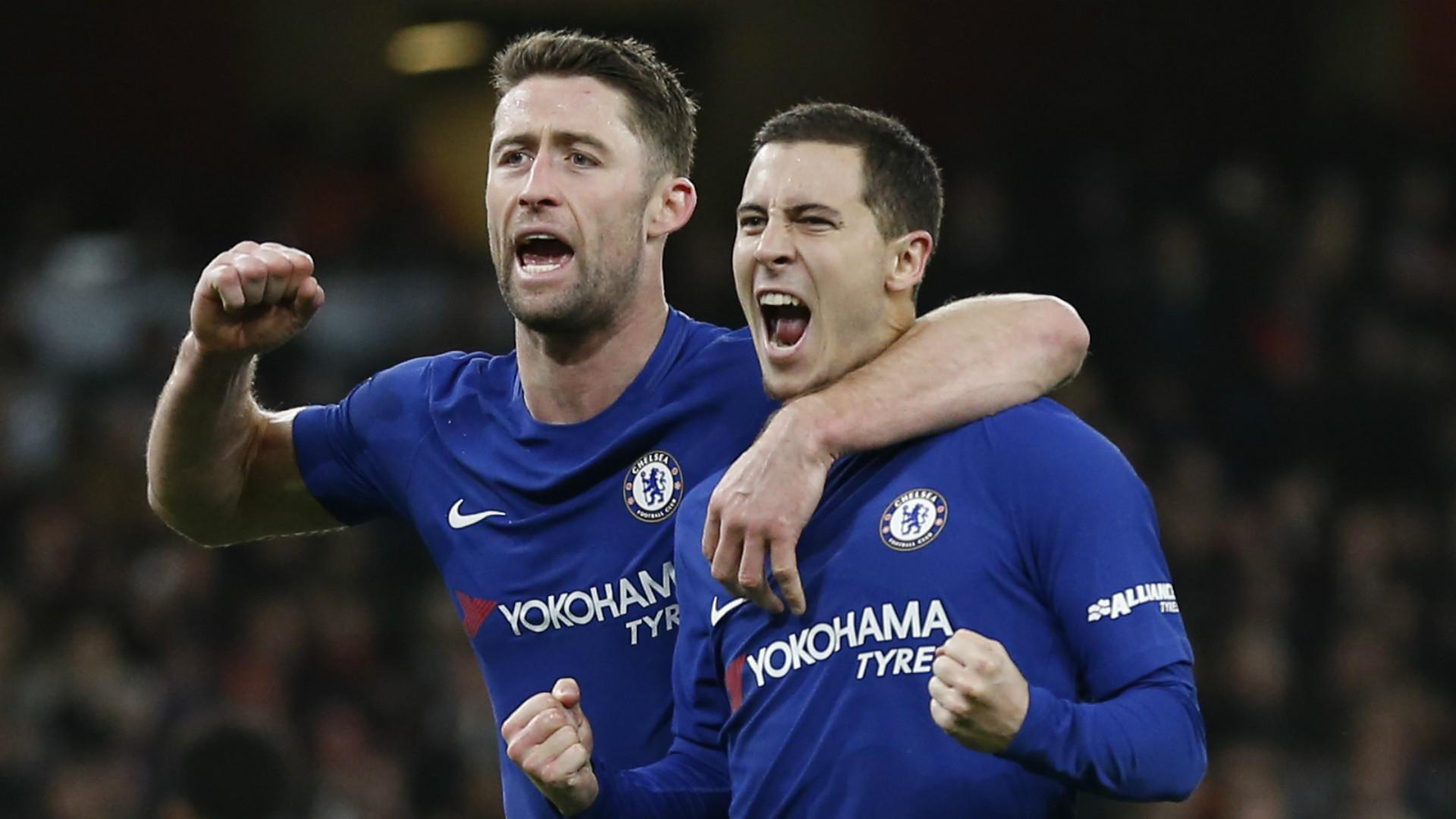 Gary Cahill Eden Hazard Chelsea