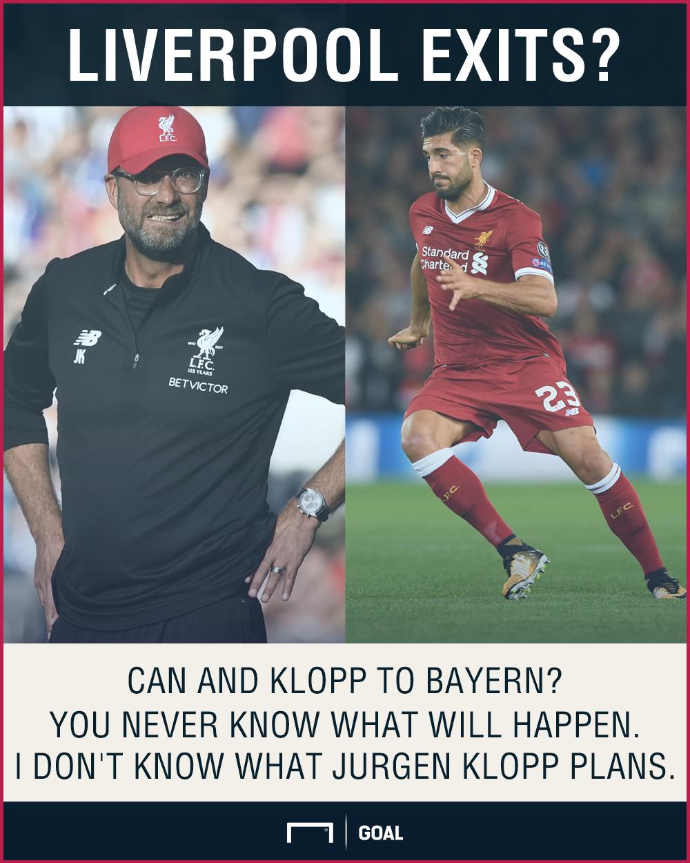 Emre Can Jurgen Klopp Bayern Liverpool