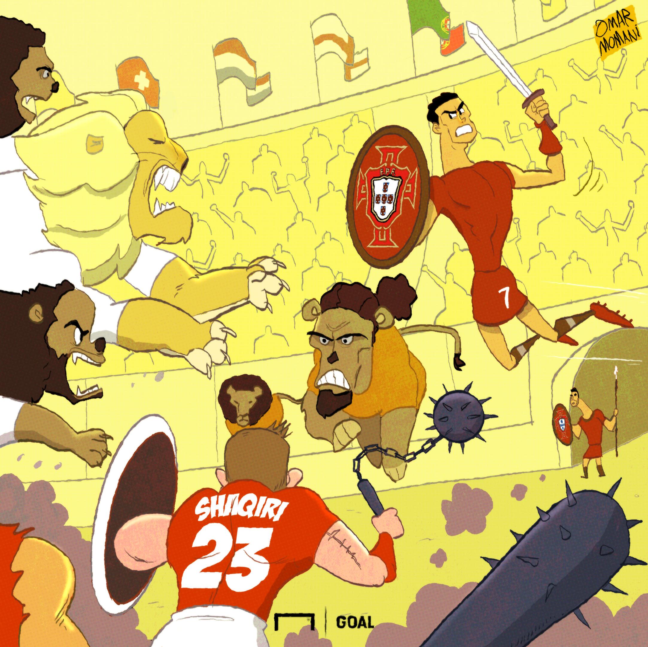 Nations League Cartoon