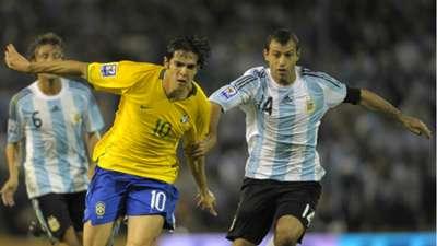 Kaka Mascherano Argentina Brazil 2009