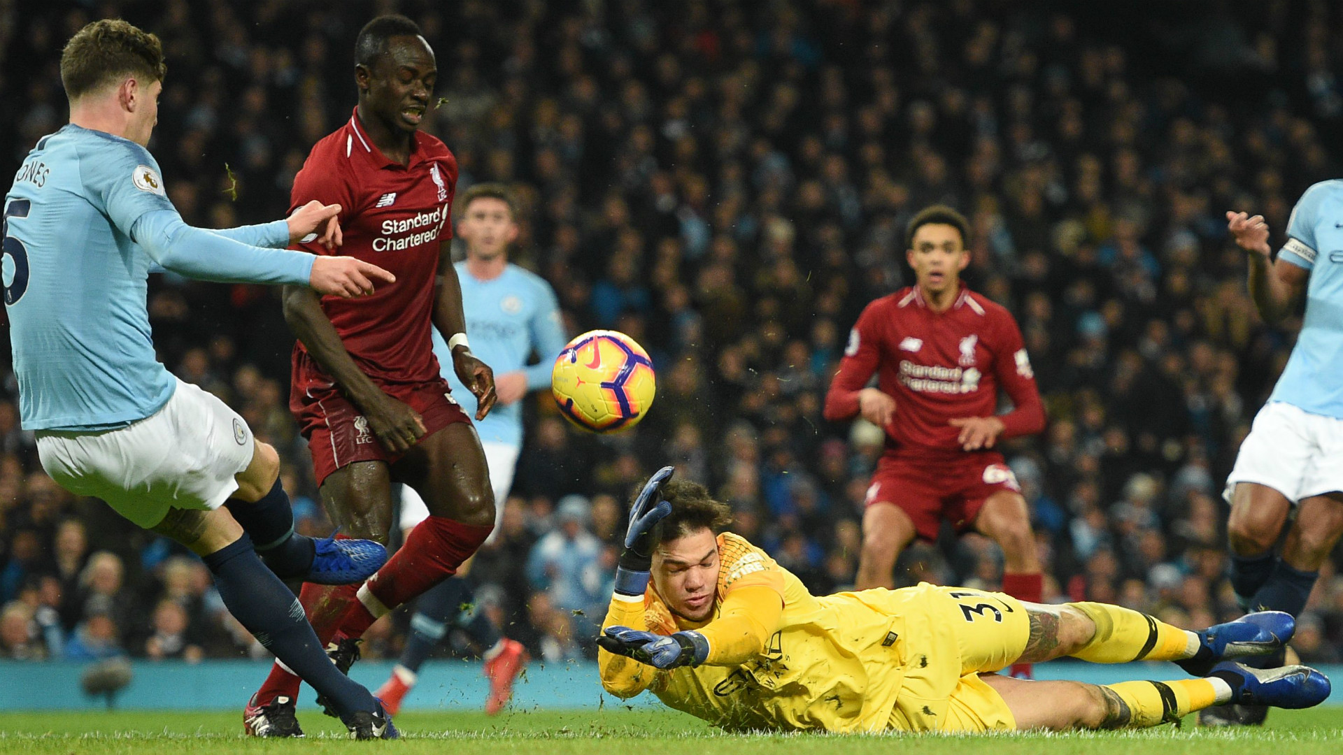 SADIO MANE LIVERPOOL EDERSON MANCHESTER CITY PREMIER LEAGUE 03012019