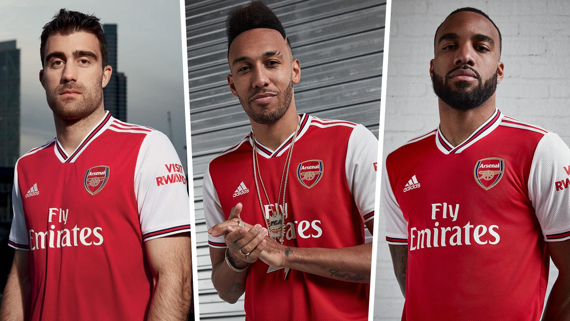 Arsenal kit 2019-20 Sokratis Pierre-Emerick Aubameyang Alexandre Lacazette