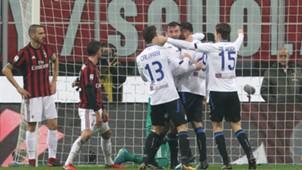 Atalanta celebrating Milan Atalanta Serie A