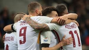 Roma celebrates Stephan El Shaarawy Inter Roma