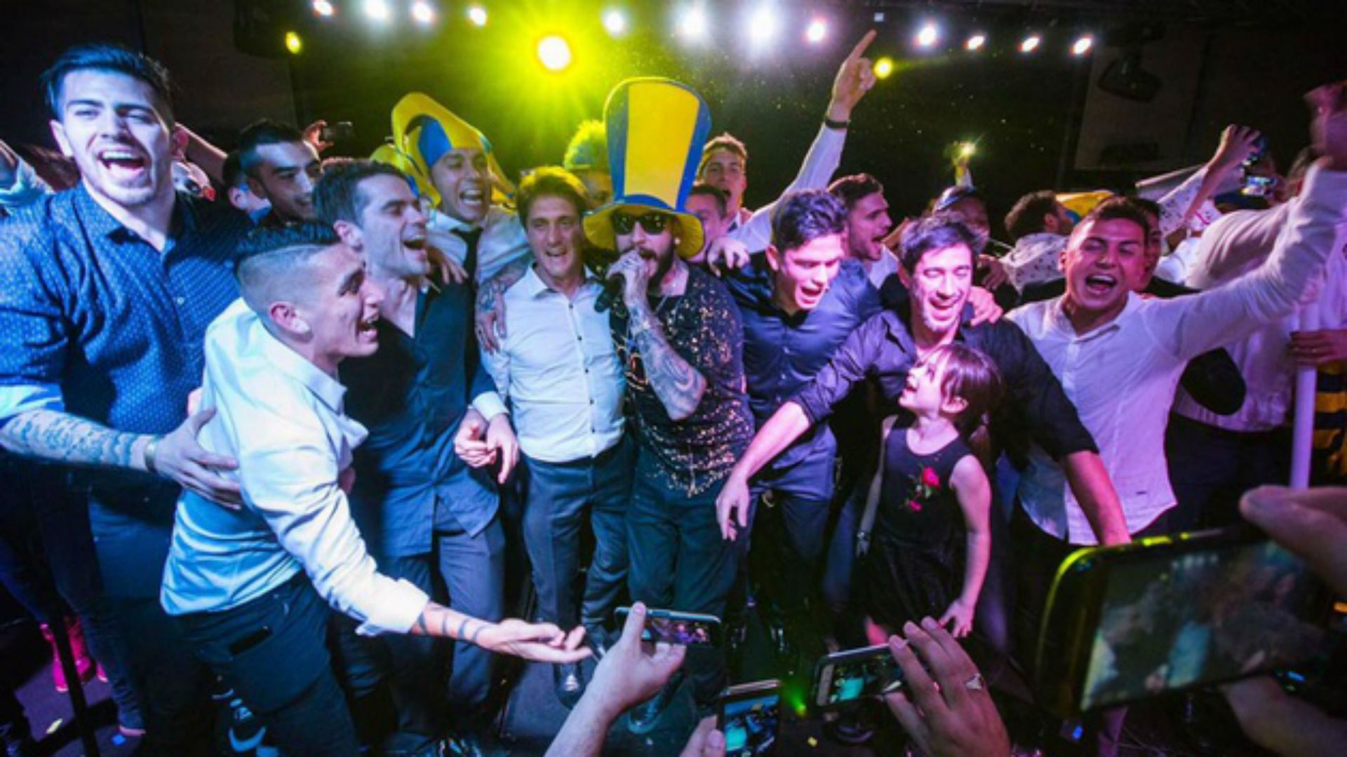 Ulises Bueno Fiesta Boca Campeon