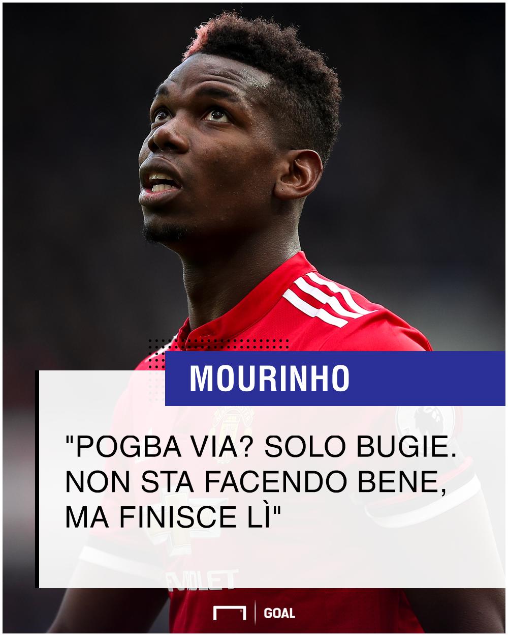 Mourinho: 'Rapporto difficile con Pogba? Una grande menzogna'