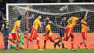 Benevento celebrating Benevento Sampdoria Serie A