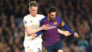 Lionel Messi Scott McTominay Manchester United Barcelona Champions League 2019