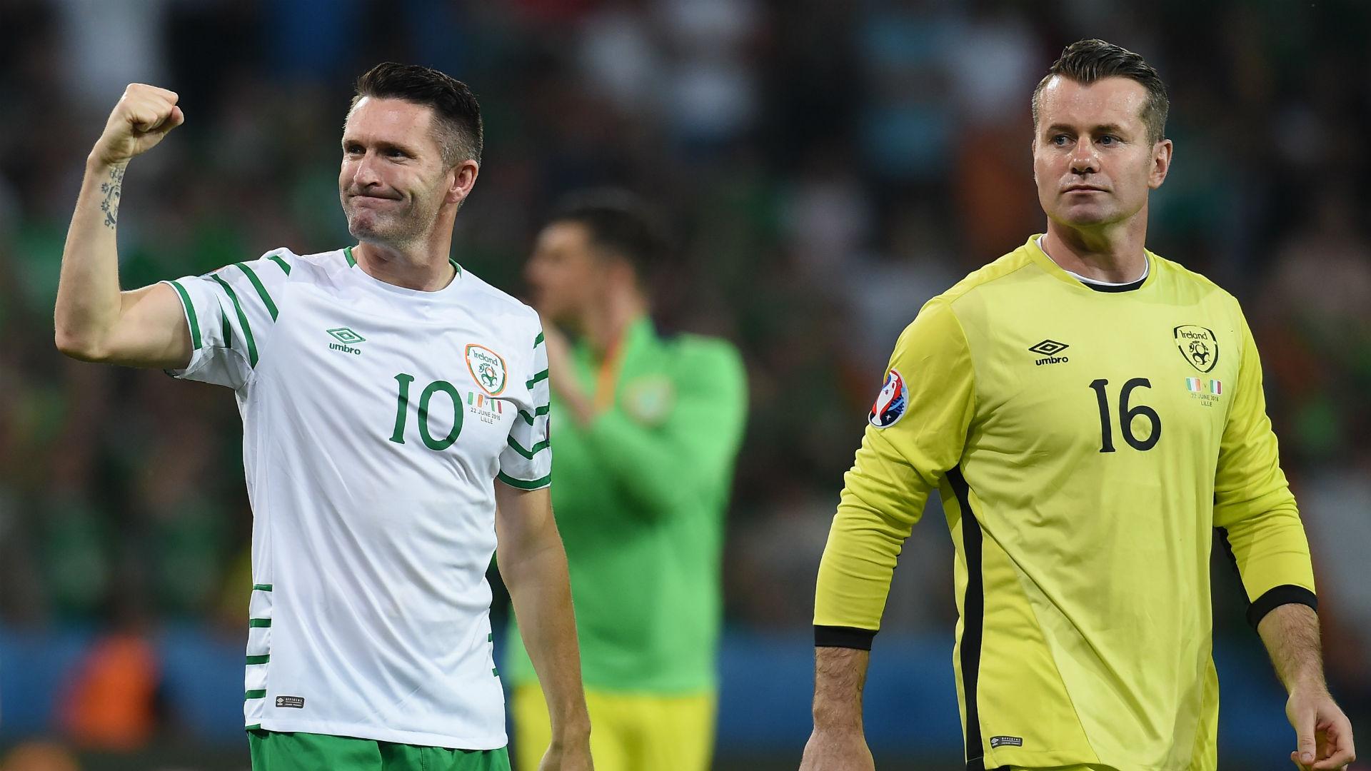 Shay Given Robbie Keane Ireland
