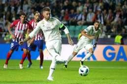 Sergio Ramos Real Madrid Atletico Madrid 15/08/2018