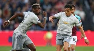 Alexis Sanchez Paul Pogba Manchester United West Ham