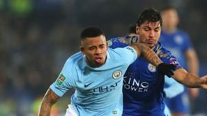 Gabriel Jesus Aleksander Dragovic Manchester City Leicester