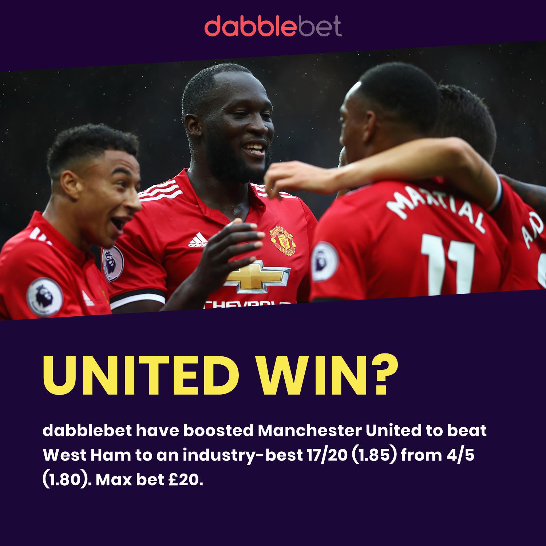 Man United boost WHU graphic