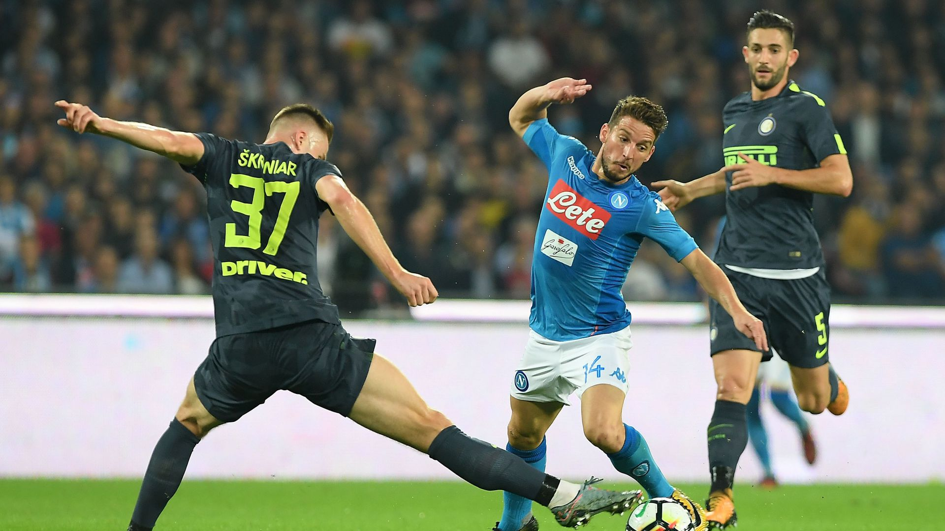 Skriniar Mertens - Napoli-Inter