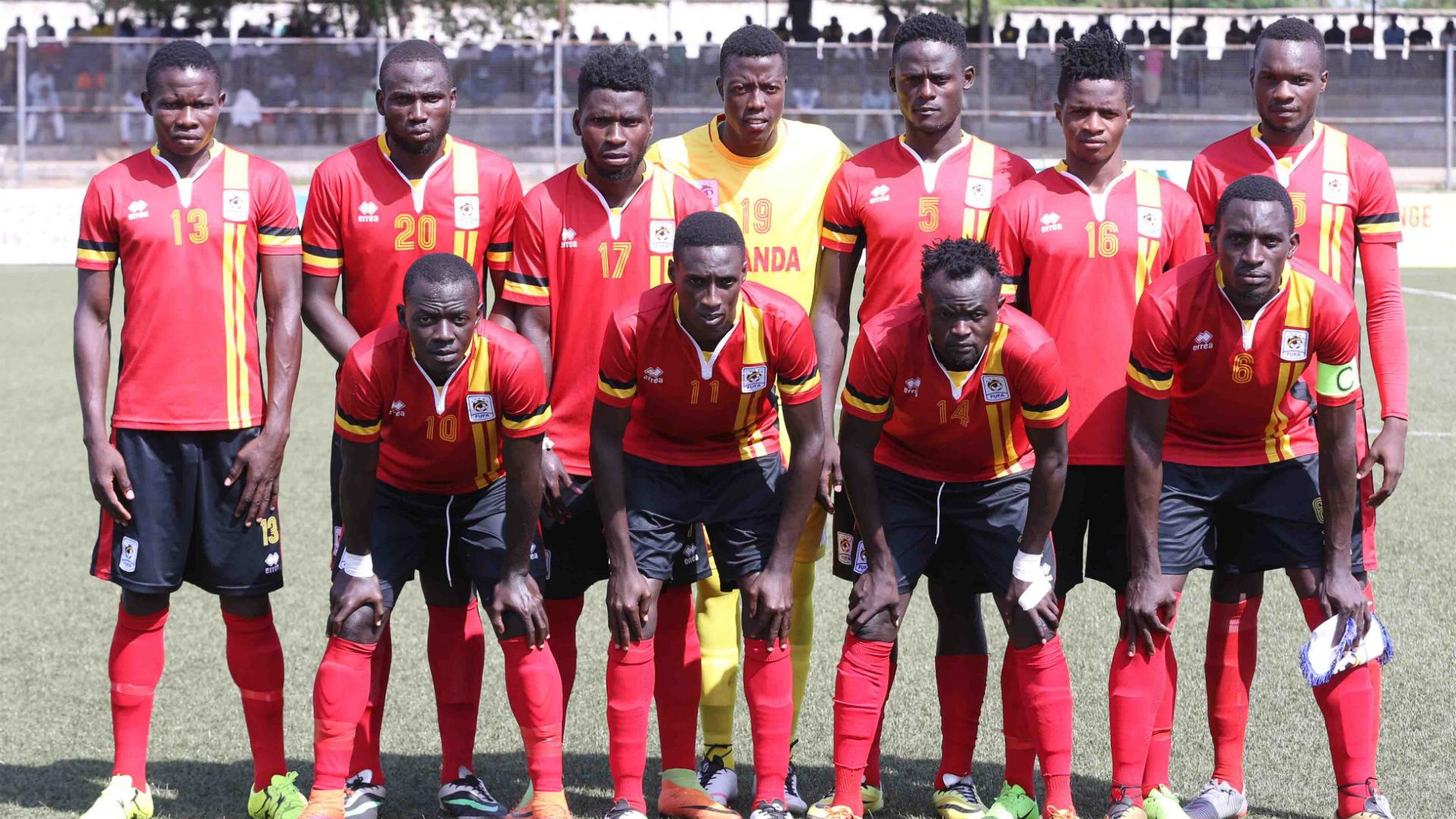 Uganda Cranes line up.