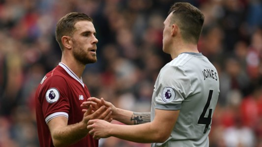 Jordan Henderson Phil Jones Liverpool Manchester United