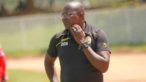 Ulinzi Stars coach Dunstan Nyaudo in FKF Shield Cup.