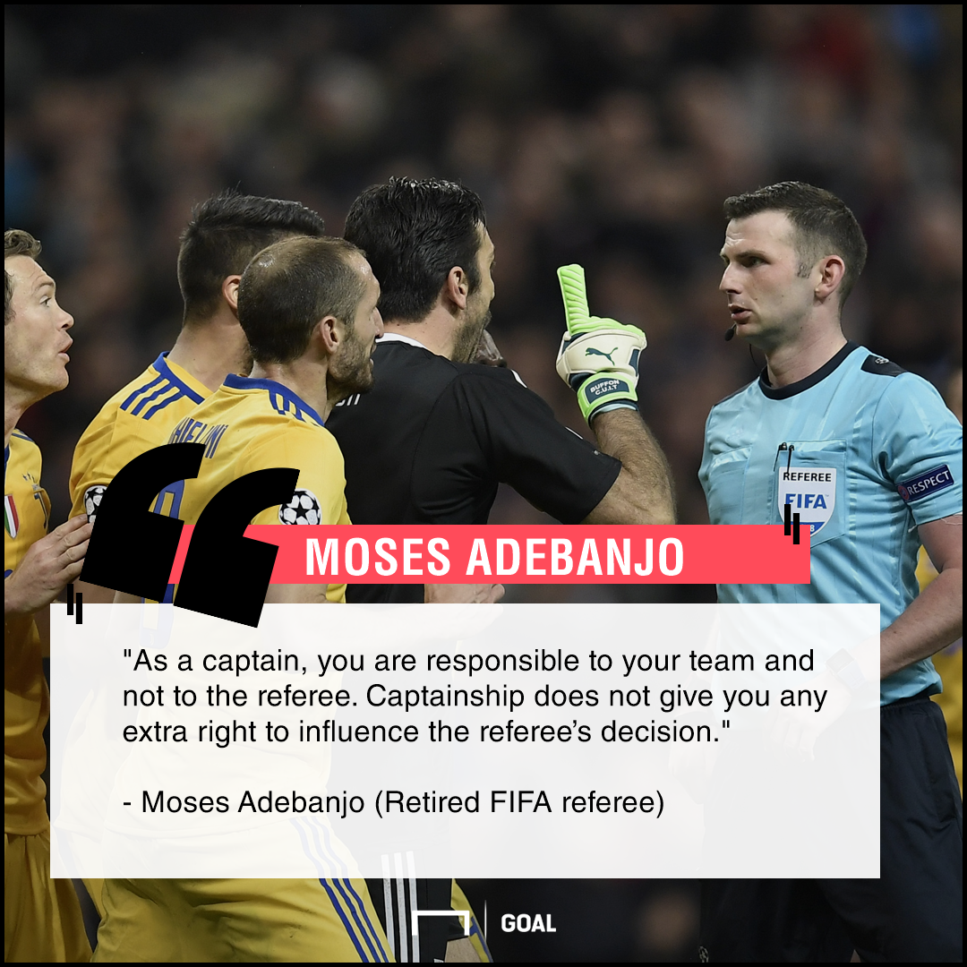 Moses Adebanjo on Buffon red card