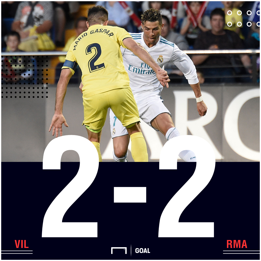 Villarreal Real Madrid score