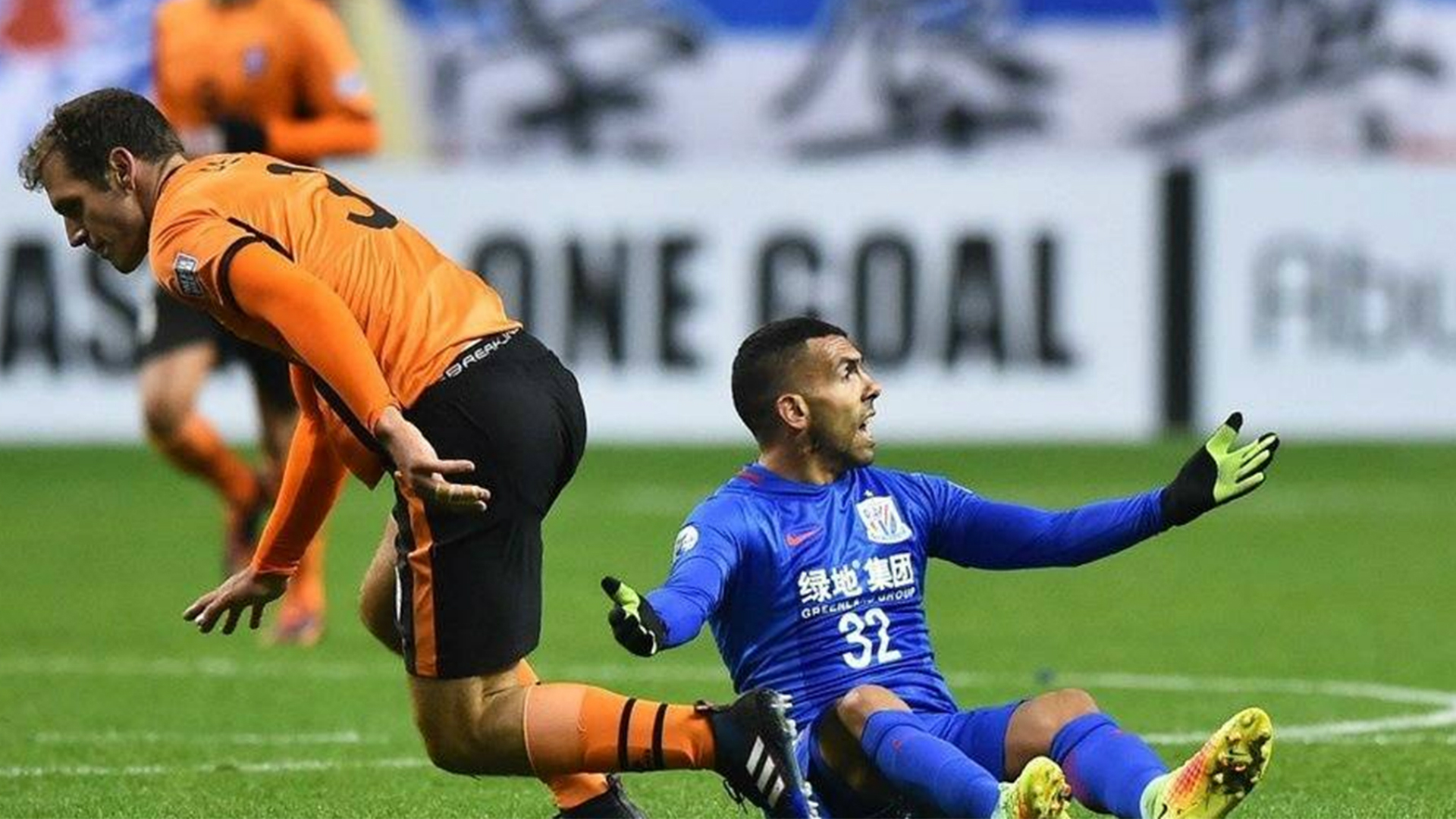 Carlos Tevez Shanghai Shenhua v Brisbane Roar AFC Champions League 08022017