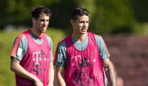 James Rodríguez entrenamiento Bayern Munich 2019