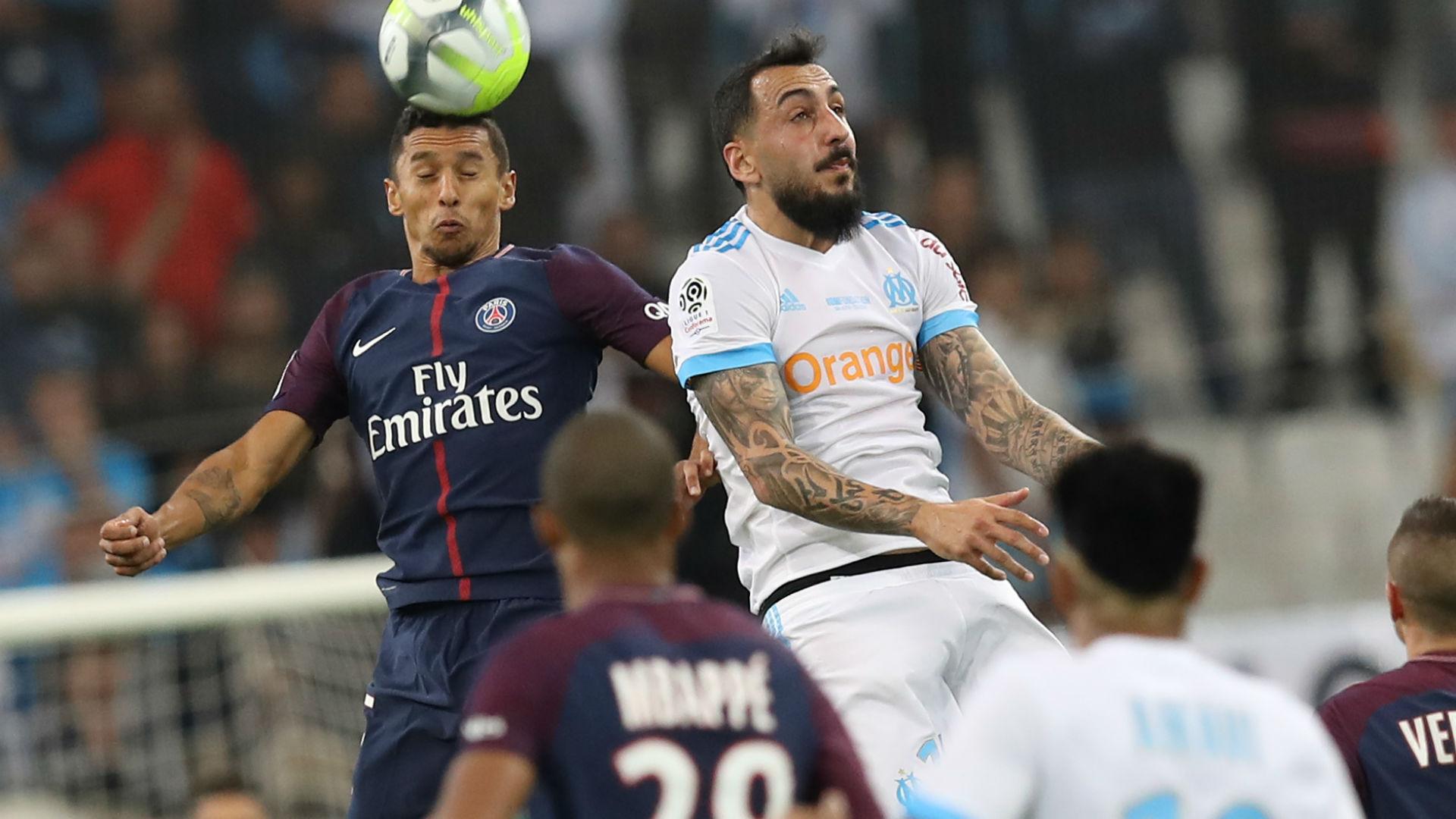 Kostas Mitroglou Marquinhos Marseille PSG Ligue 1 22102017