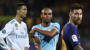 Fernandinho, Messi, Ronaldo SPLIT