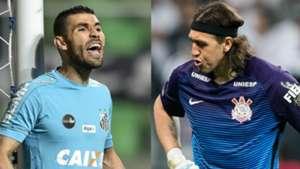 Vanderlei e Cássio - Santos x Corinthians - 7/09/2017