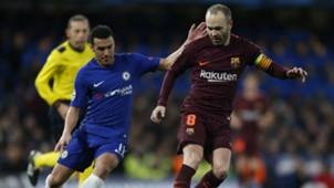 Pedro Rodriguez, Andres Iniesta, Chelsea vs Barcelona