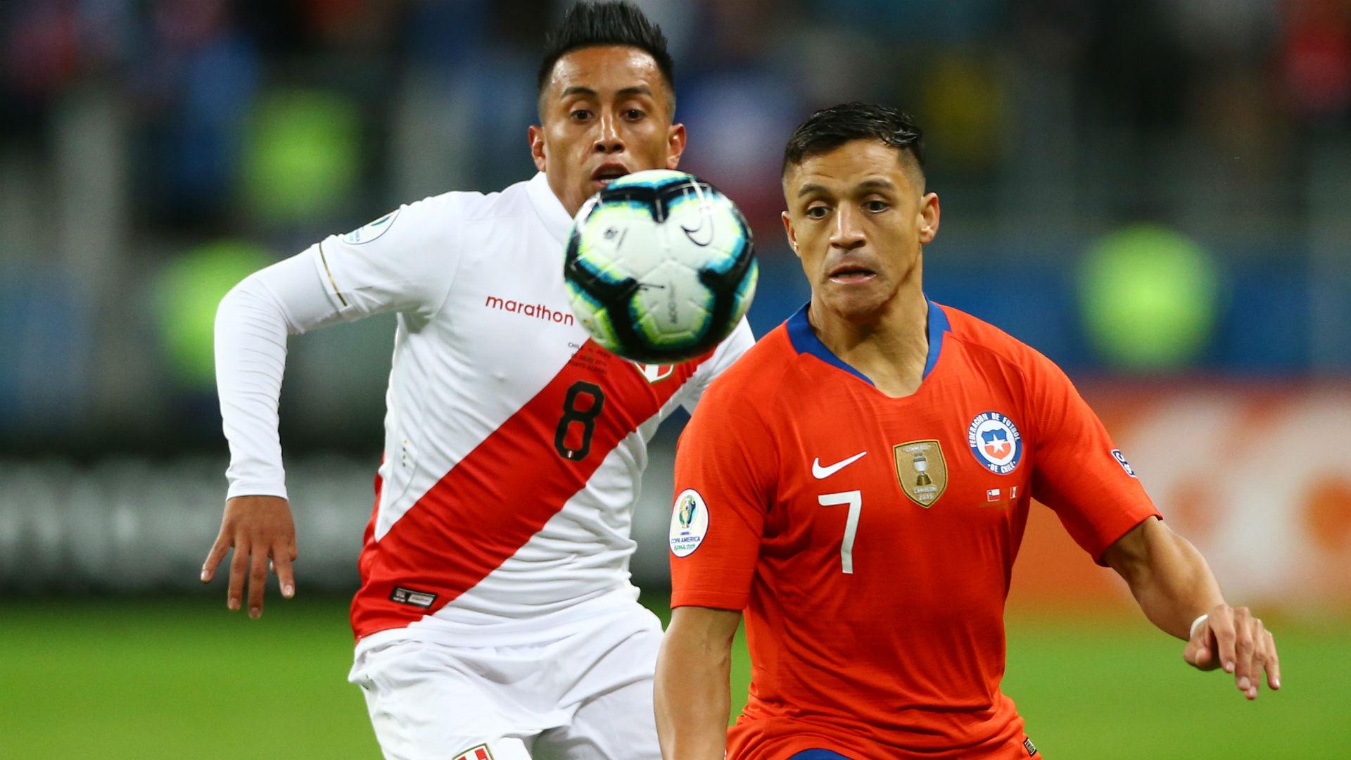 Alexis Sanchez Christian Cueva Peru Chile Copa America 2019