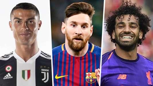 Cristiano Ronaldo Lionel Messi Mohamed Salah