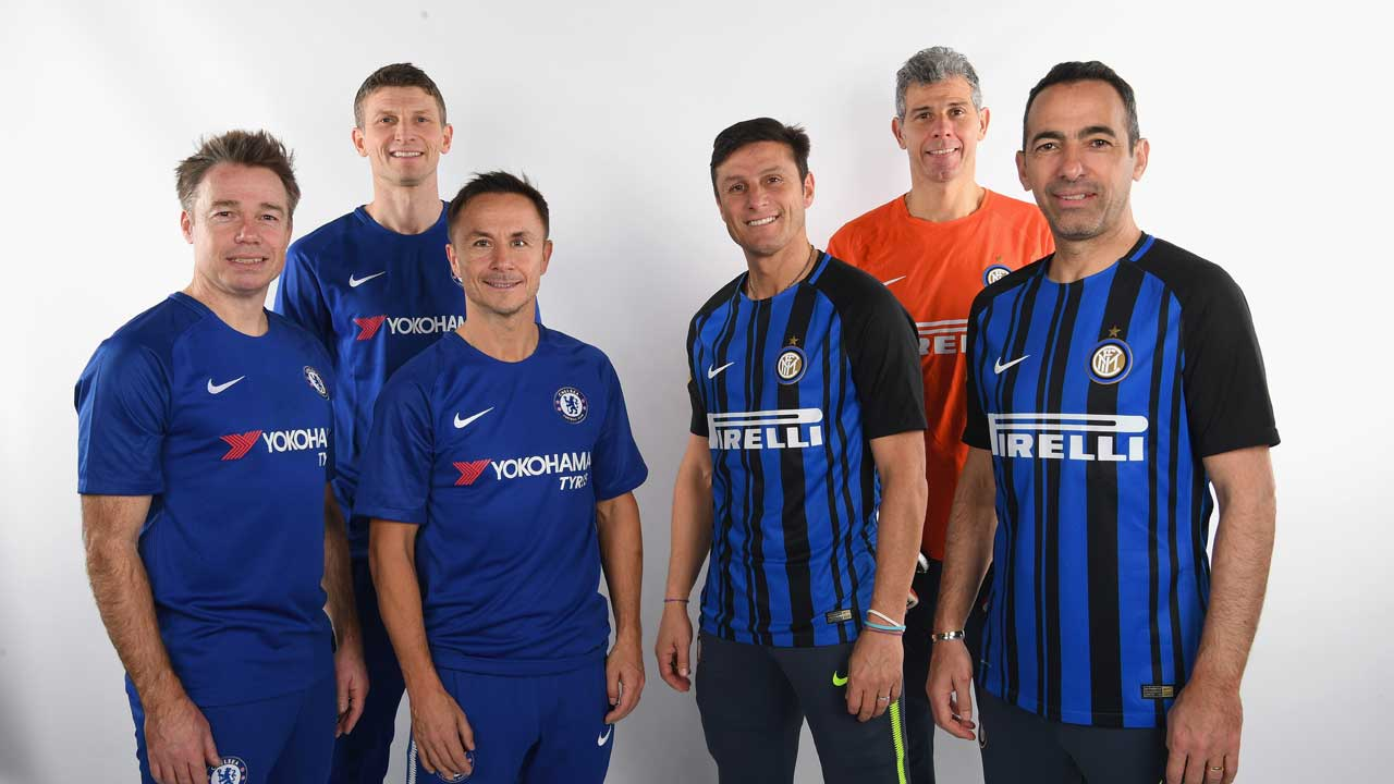 Chelsea legends versus Inter Forever