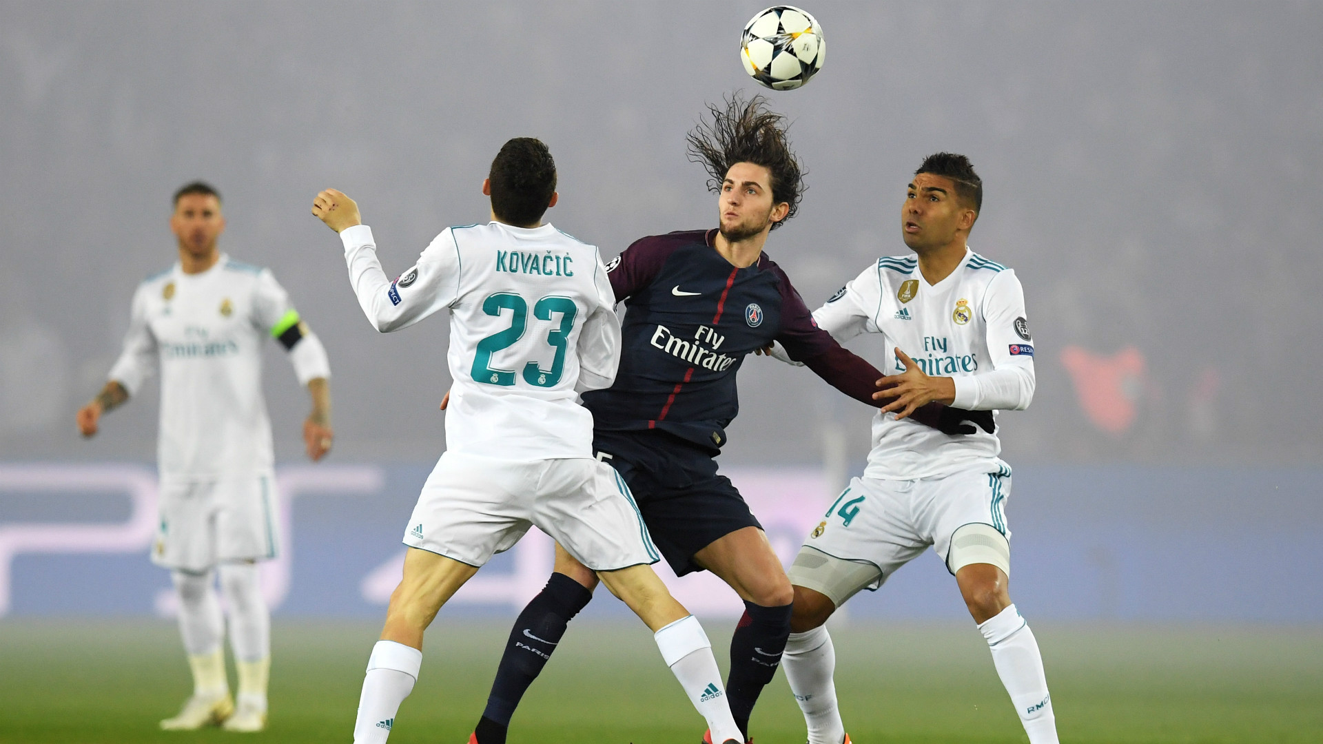 RABIOT CASEMIRO KOVACIC PSG REAL MADRID CHAMPIONS LEAGUE