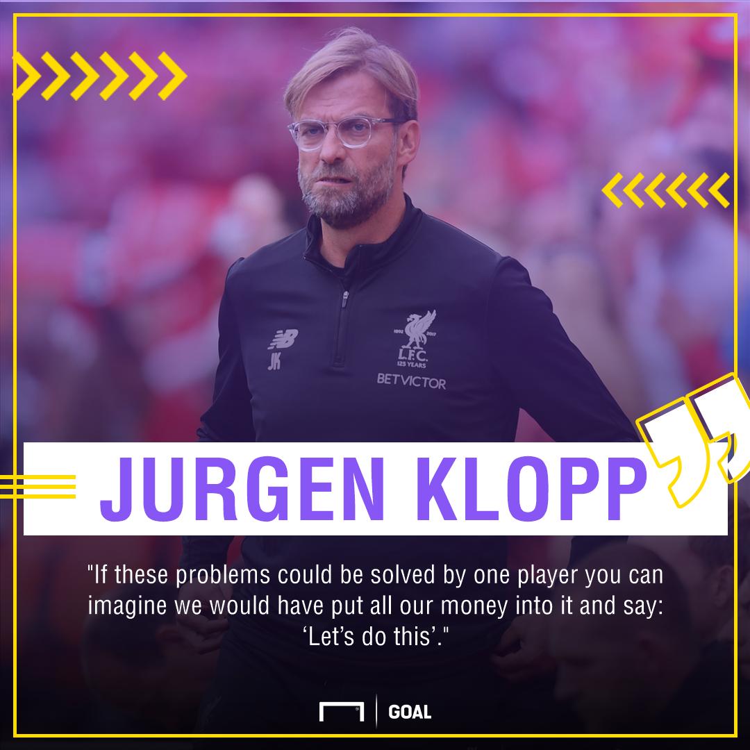 Jurgen Klopp Liverpool no centre-half signing