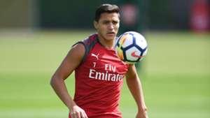 Primer entrenamiento de Alexis Sánchez en Arsenal 01082017