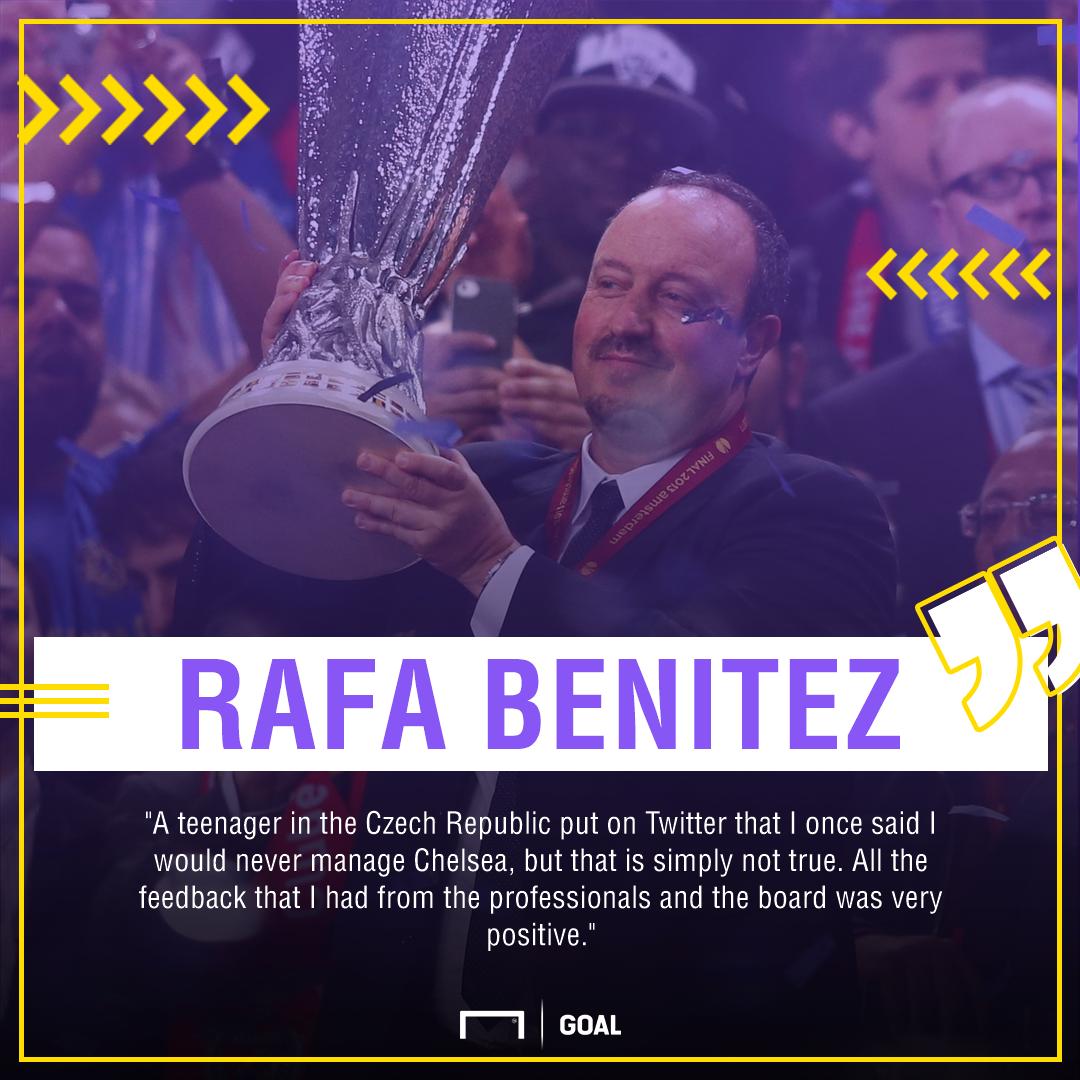 Rafa Benitez Chelsea fans