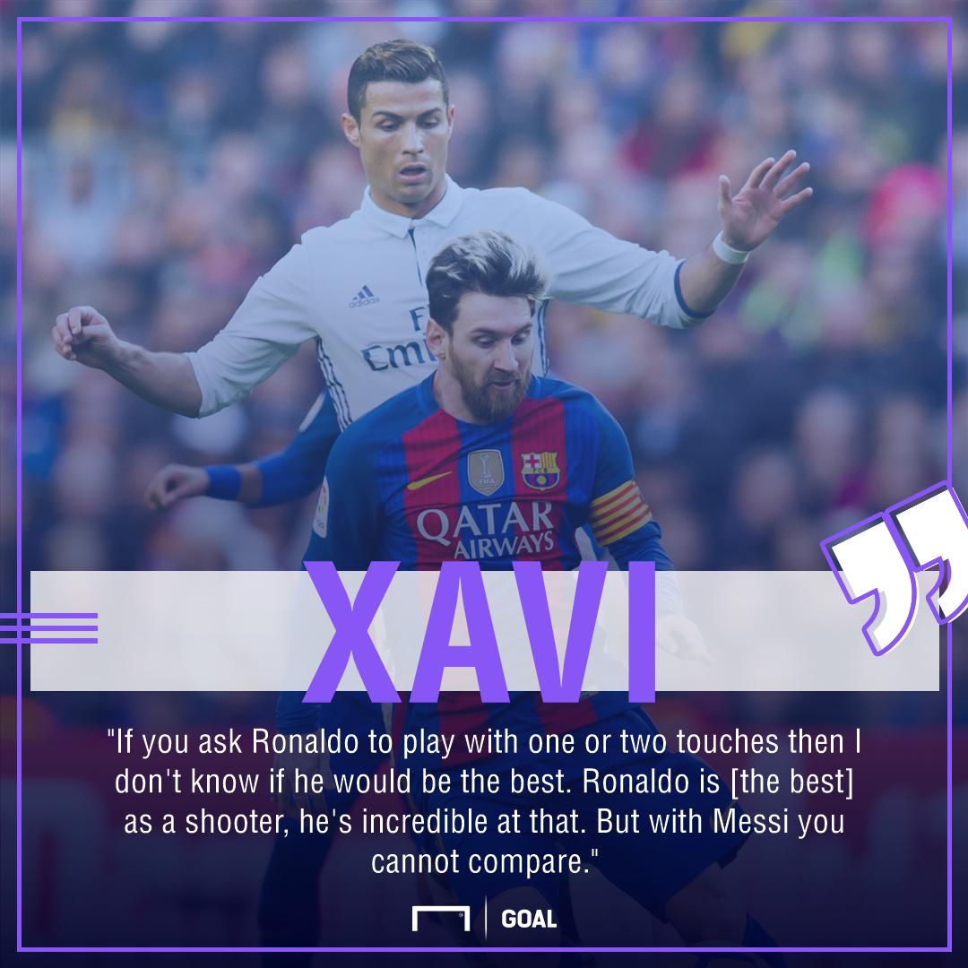 'Ronaldo can't be compared to Messi' - Xavi considers Barca man far superior