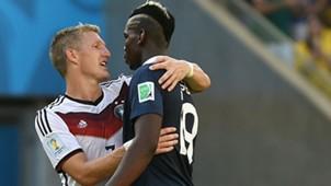 Bastian Schweinsteiger Paul Pogba Deutschland Frankreich WM 2014 07042014