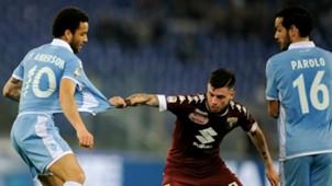 Felipe Anderson Daniele Baselli Marco Parolo Lazio Torino Serie A
