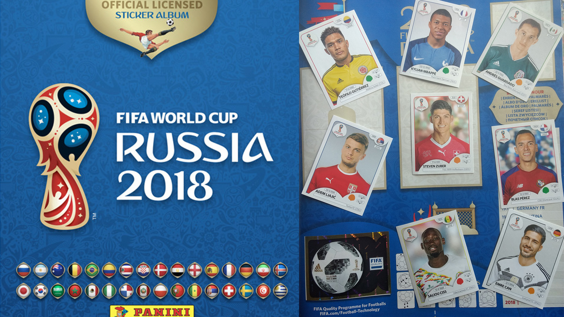 Panini sticker World Cup 2018 composite