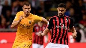 Edin Dzeko, Roma, Mateo Musacchio, AC Milan