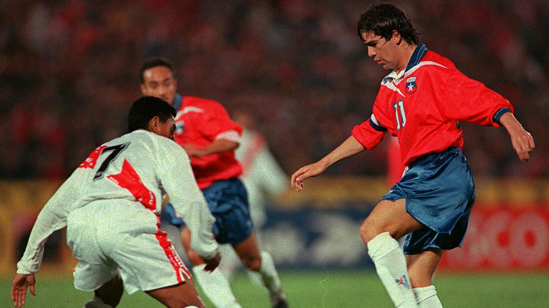 Perú Chile 1997 Eliminatorias. Solano y Salas