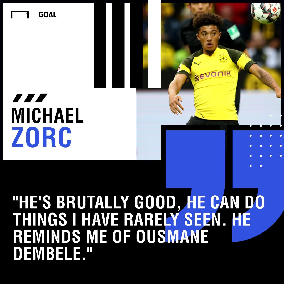 Jadon Sancho Ousmane Dembele comparison Michael Zorc