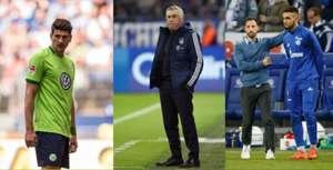 Mario Gomez & Carlo Ancelotti & Nabil Bentaleb