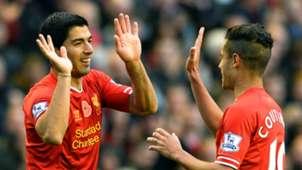 Luis Suarez, Philippe Coutinho, Liverpool