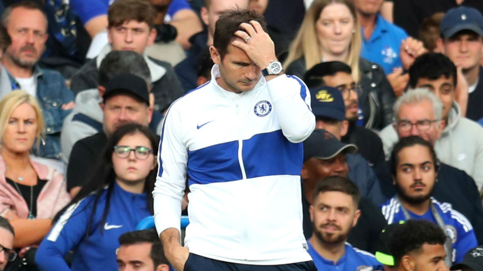 Lampard unhappy with second-half display