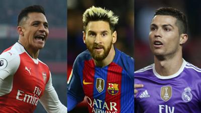 GFX Alexis Sanchez Lionel Messi Cristiano Ronaldo