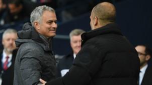 Jose Mourinho Pep Guardiola Manchester United Manchester City