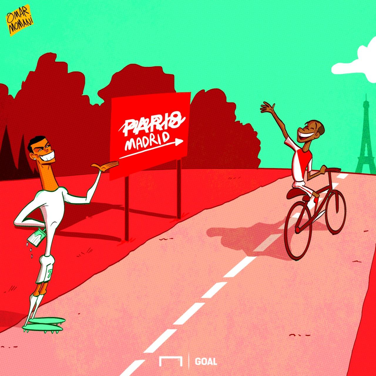 Cristiano Ronaldo Kylian Mbappe Cartoon