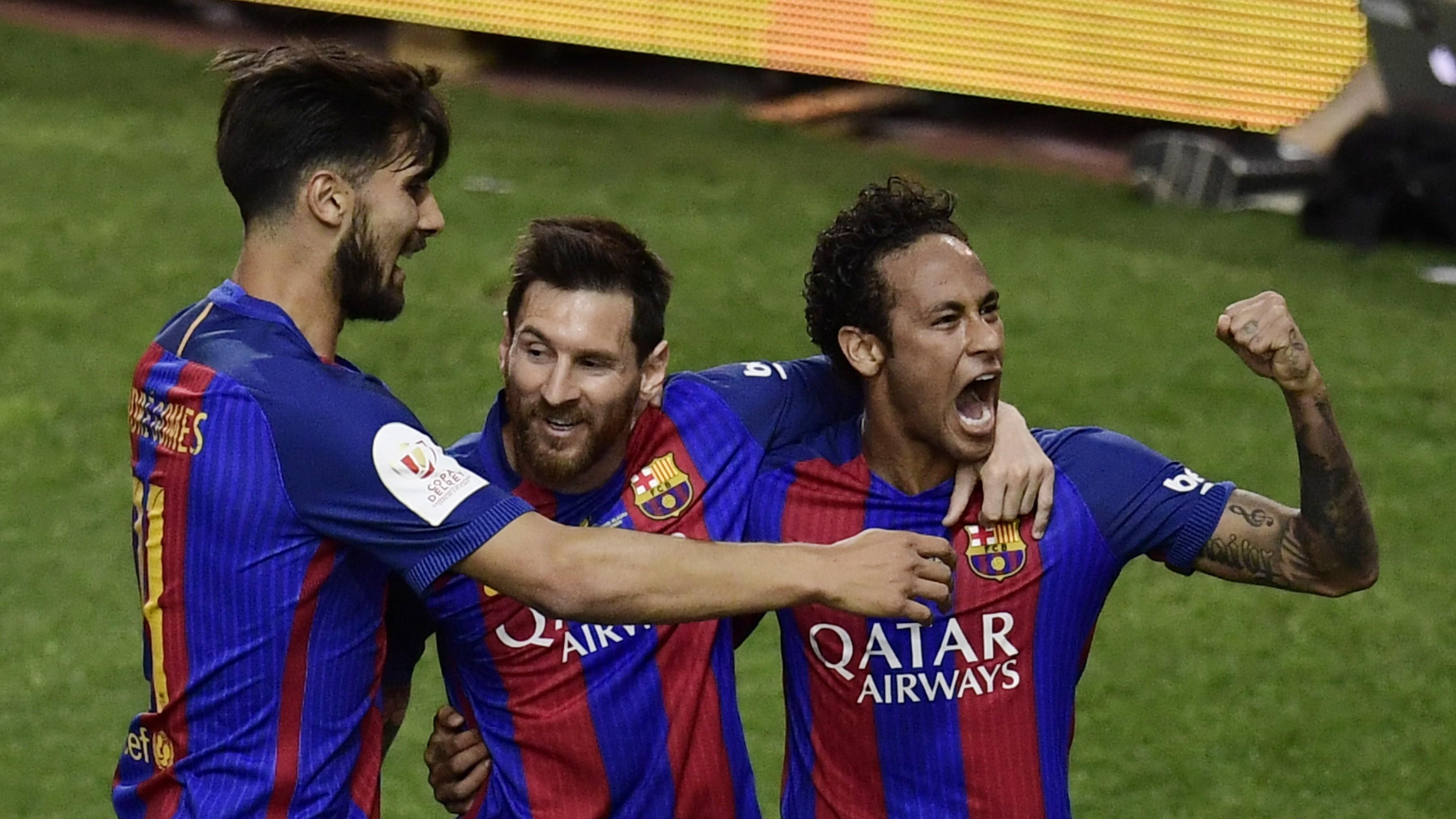 Lionel Messi Neymar Andre Gomes Barcelona Alaves Copa del Rey 27052017
